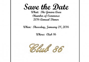 Save the Date- Geneva Area Chamber of Commerce 2016 Annual Dinner