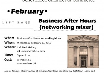 February Business After Hours Networking Mixer