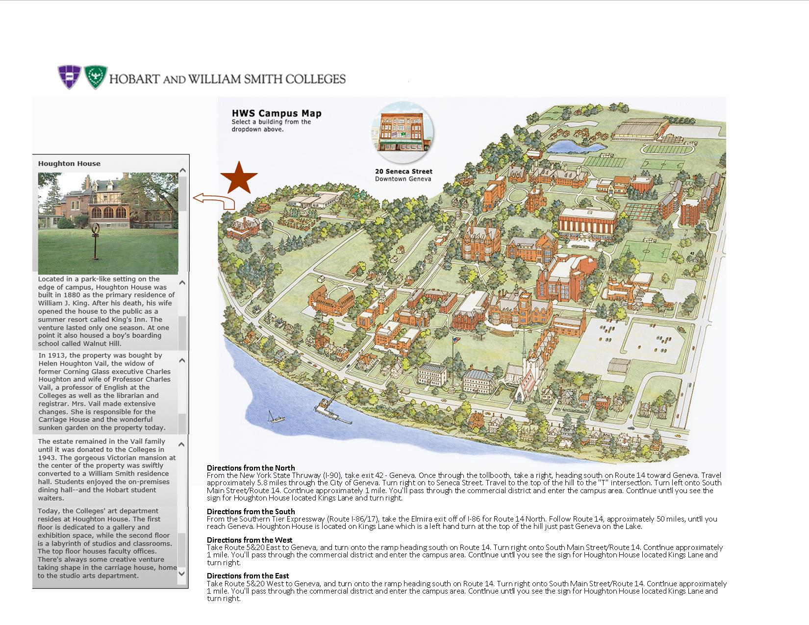 Hobart And William Smith Campus Map.July Bah Mixer Hobart And William Smith Colleges Geneva Area
