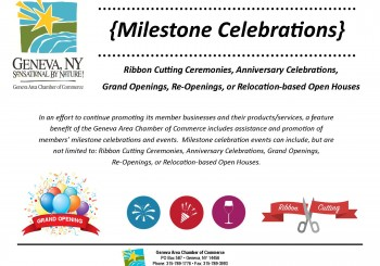 Chamber Unveils Milestone Celebrations Program