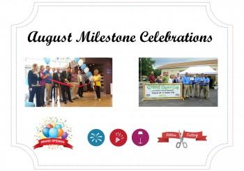August Milestone Celebration Recaps