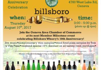 10th Anniversary Milestone Celebration at Billsboro Winery