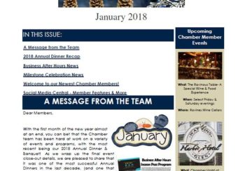 Chamber Connection Newsletter ~ January 2018