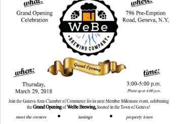 Upcoming Member Milestone: Grand Opening at WeBe Brewing