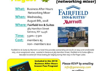 August Business After Hours- Fairfield Inn & Suites