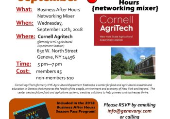 September Business After Hours- Cornell Agritech