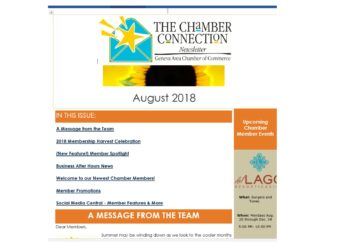 The Chamber Connection ~ August 2018