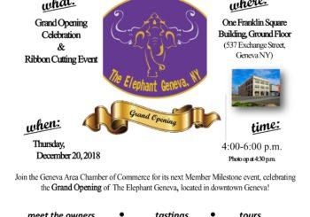 The Elephant Geneva Member Milestone Celebration on Thursday, Dec. 20