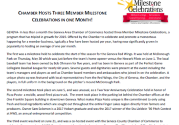 The Chamber Hosts Three Member Milestone Celebrations in One Month