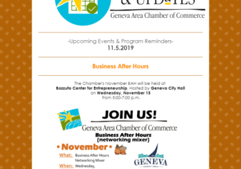 Upcoming Events & Program Reminders 11.5.19