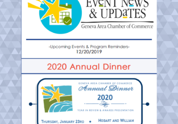 Upcoming Events & Program Reminders 12.20.19