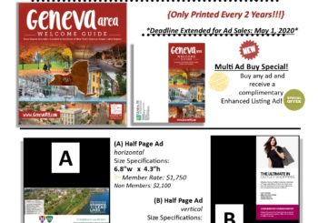 Geneva Area Welcome Guide Update- COVID Delay Advertising & Publishing Extension