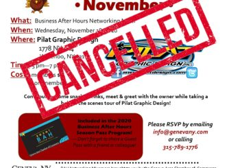 Cancelled: November Business After Hours